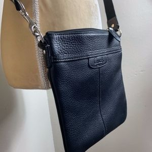 Coach Black Leather Crossbody Purse